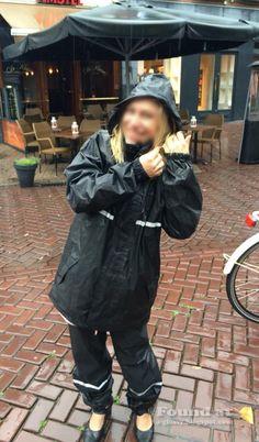Nylons, Rain Suit, Rain Gear, Overall, Rain Jacket, Windbreaker, Raincoat, Suits, Black And White
