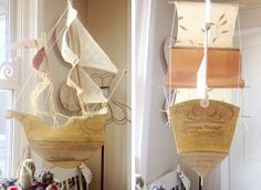 PAPER: Ann Wood - Paper Mache Ships: Dream Voyager made by Kileen from Ann Wood Pattern.