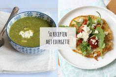 Courgette kan je bakken, koken, roosteren, pureren, soep of noedels van maken. Wij zetten vijf heerlijke recepten met courgette op een rij.