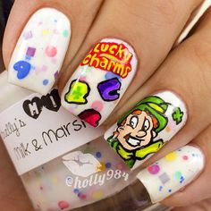 Lucky Charms Cereal Nails