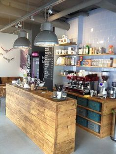 Waidmeister Cafe Bar in Cologne, North Rhine-Westphalia . - Waidmeister Cafe Bar in Cologne, North Rhine-Westphalia … – shop - Coffee Shop Counter, Cafe Counter, Coffee Shop Bar, Small Coffee Shop, Restaurant Counter, Bar Deco, Deco Cafe, Cafe Shop Design, Coffee Shop Interior Design