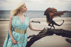 I am Daenerys Stormborn of House Targaryen, of the blood of Old Valyeria. The First of Her Name, the Unburnt, Queen of Meereen, Queen of the Andals and the Rhoynar and the First Men, Khaleesi of the Great Grass Sea, Breaker of Chains and Mother of Dragons.  One of the best things about working with Savvy is that she gets into the roles I ask her to play. Whether it's the Joker's crazy love or when I put her in front of a video camera as a working mom who loves peanut butter...