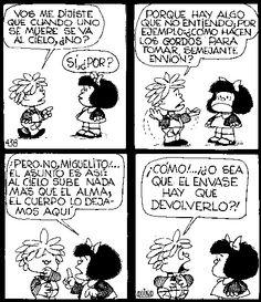 """""""¿El envase hay que devolverlo? #MafaldaQuotes"""