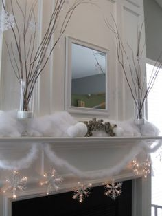 1000 Images About Christmas Mantel Inspiration On