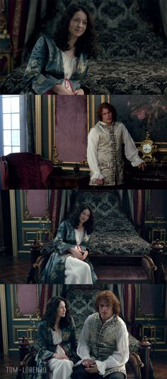 """""""La Dame Blanche? Well, yes, I may have heard of it."""" The color for Claire this week is blue."""