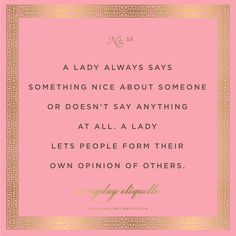 Everyday Etiquette // Emily McCarthy