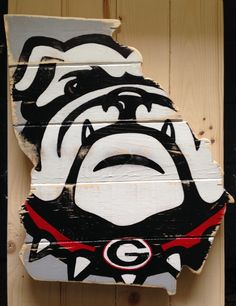 Georgia and UGA Bulldog Custom Wood State Cut Out-Pick your own state or team to customize by LittlePaintedThings on Etsy https://www.etsy.com/listing/224832904/georgia-and-uga-bulldog-custom-wood