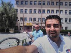Eski günlerin hatrina Bozkır Çok Programlı Lisemizi ilce içinde bisiklet turu  yaparken ziyaret ettik.  #yakupcetincom #Bozkir #Konya #Cpl #bx #bisiklet