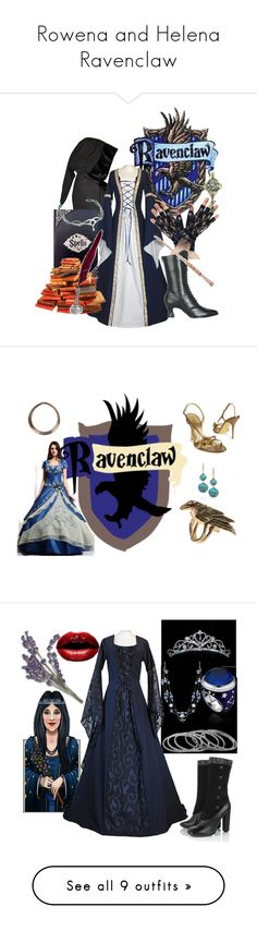 """Rowena and Helena Ravenclaw"" by estijf ❤ liked on Polyvore featuring Paul Frank, Forzieri, Maria Nilsdotter, Oasis, Ippolita, Marc Jacobs, TIARA, Theo Fennell, 1928 and ABS by Allen Schwartz"