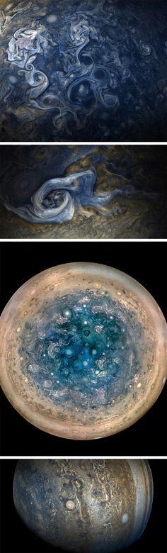 Up-Close Imagens de Jupiter Revelam uma paisagem impressionista de Giros de redemoinho
