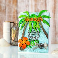 Summer Tiki with Tim Holtz Products - Scrapbook.com