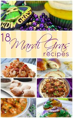 Mardi Gras Food: 18 Great Recipes - Get ready for Mardi Gras with this great collection of Mardi Gras food! Get ready for Mardi Gras wi - Mardi Gras Appetizers, Mardi Gras Food, Mardi Gras Party, Louisiana Recipes, Cajun Recipes, Southern Recipes, Mardi Gras Centerpieces, Mardi Gras Decorations, New Orleans Recipes