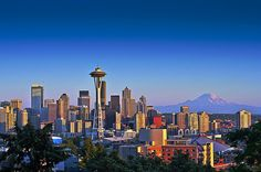 Seattle!  We endure eight months of rain and clouds for four months of unparalleled gorgeousness!
