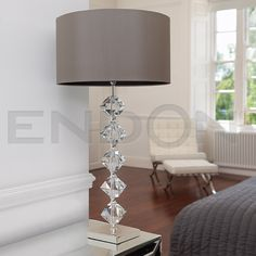 Taupe Silk Table Lamp VERDONE