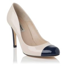 Bruton Toe Cap Leather Court Shoe - work shoes don't have to be boring.