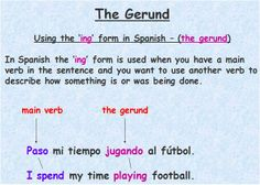 Gerund - using the  -ing form in Spanish