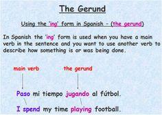Gerund - using the  -ing form in Spanish