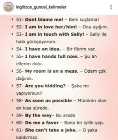 English Study, English Words, English Grammar, Learn English, Learn Turkish Language, Learn A New Language, English Language Learning, Learning Spanish, French Love Quotes