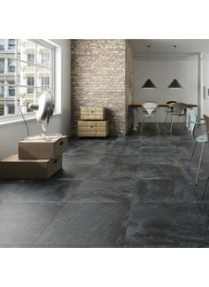 Inspirations,Exciting Interior Floor Design With Cozy Slate Floor Tiles: . Black Slate Floor Tiles, Slate Floor Kitchen, Black Tiles, Slate Flooring, Black Floor, Kitchen Flooring, Kitchen Tile, Flooring Tiles, Floor Design
