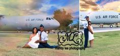 On location Maternity photography session, Air Force couple with an Air Force plane. https://www.facebook.com/pages/Mandy-Lee-Photography/113937515377935