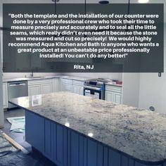 ''Perfection is not attainable, but if we chase perfection, we can catch excellence''. V. Lombardi  #testimonialtuesday #testimonials #testimonicustomer #testimonial #kitchendesign #granitecountertop #interiordesign #naturalstone