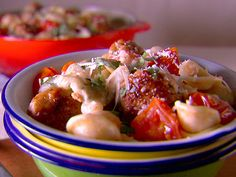 Family Fave!  Chicken Meatballs with Baby Mozzarella and Cherry Tomato Pasta