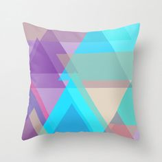 Decorative Throw Pillow Cover, Indoor or Outdoor Pillow Cover, Geometric Pillow Cover, White, Striped Pillow Cover Blue Pillow Covers, Outdoor Pillow Covers, Decorative Pillow Covers, Turquoise Pillows, Blue Pillows, Patio Pillows, Outdoor Throw Pillows, Geometric Pillow, Designer Pillow