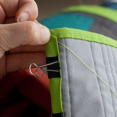 Use mini clips instead of straight pins to keep fabric in place when stitching!