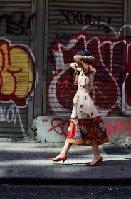 On the Street…..Crosby St., New York - love the dress and the light