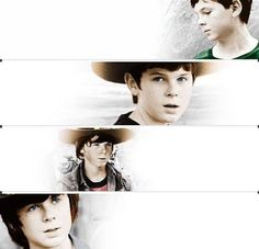Carl {Chandler Riggs} throughout the seasons ♡