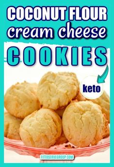 These coconut flour cream cheese cookies are everything for when it needs to be grain-free, nut-free, egg-free, sugar-free, keto-friendly and delicious |keto cookies |keto cream cheese cookies |low carb cookies |cream cheese cookies |coconut flour cookies #ketocreamcheesecookies #lowcarbcreamcheesecookies #ketocookies #lowcarbcookies Low Carb Sweets, Low Carb Desserts, Low Carb Recipes, Whole Food Recipes, Cookie Desserts, Yummy Recipes, Cookie Recipes, Recipies, Dessert Recipes