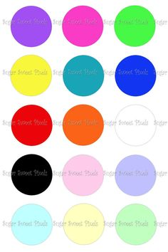 INSTANT DOWNLOAD Solid Multi colored blank 1inch by sugarnspicebow