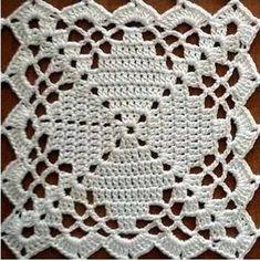Crochet Blocks, Granny Square Crochet Pattern, Crochet Squares, Crochet Blanket Patterns, Crochet Motif, Crochet Doilies, Crochet Flowers, Crochet Bedspread Pattern, Granny Squares