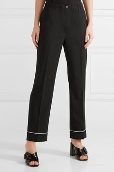 Prada - Wool Straight-leg Pants - Black - IT48