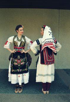 Serbian dress of the Sumadija region. Montenegro, Folk Clothing, Historical Clothing, Costumes Around The World, Art Populaire, Folk Dance, Beautiful Costumes, Ethnic Dress, Serbian