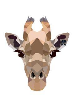 Geometric Giraffe Art Print