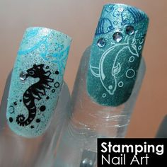 Blink stamping nail art / Stamping nail art by Diva Cresent All About Nail Art, via Flickr