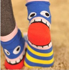 10 Pairs/Lot Promotion 2013 Korea Cute Stripe Mouth Cotton Wacky Socks Women  Free Shipping Wholesales  FC12132-in Socks from Apparel  Accessories on Aliexpress.com $13.50