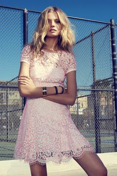 Lovely little lace dress in pink #GoWest
