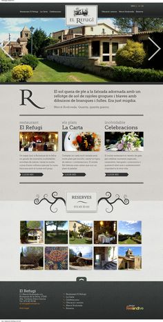 Web Design Inspiration - www.restaurant-elrefugi.com