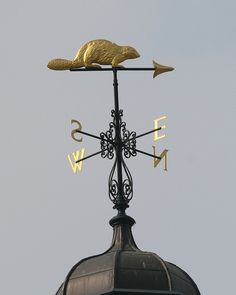 Weathervane on top of Hudson Bay House, Bishopsgate, London