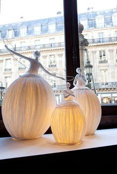 paper lamp sculptures