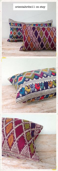 Vintage textile handwoven decorative throw pillow case. I make it and love it!