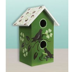 Silhouette Birdhouse. Grace your garden with this simple but elegant outdoor birdhouse. #birdhouse #folkartpaint #plaidcrafts #crafts