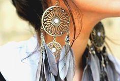#earrings #feather #jewelry