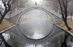 moon bridge, bejing, china