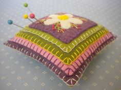 Harujion Design: Embroidery pin cushion