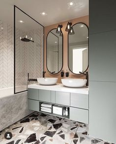 Friends, let's appreciate the interior of the bathroom for a large family from St. - Home Design