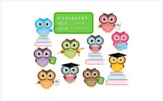 Owl School Clipart Classroom Education Clip by DennisGraphicDesign Owl Theme Classroom, Middle School Classroom, Classroom Rules, Classroom Displays, Classroom Activities, School School, Classroom Ideas, School Stuff, Classroom Clipart