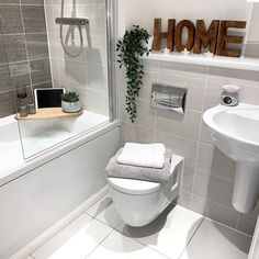 I'm sure that's the official word, in the official English Dictionary that explains my… Bathroom Inspo, Bathroom Inspiration, Bathroom Interior Design, Interior Decorating, Small Bathroom, Loft Bathroom, Budget Bathroom, Modern Bathroom, Country Interior